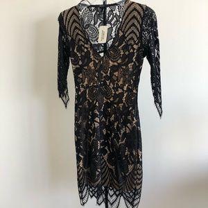 Sleeved gothic black dress